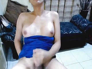 Hawt Oriental Shelady Masturbate Her Large Hard Pecker