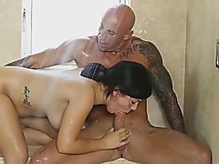 Nuru Massage Shower Blowjob Fucking Doggy Style