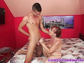 Orally Pleasured Gilf Sucks Big Dick