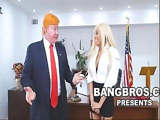 Bangbros - Luna Star Gets Grabbed By The Pussy At The White House