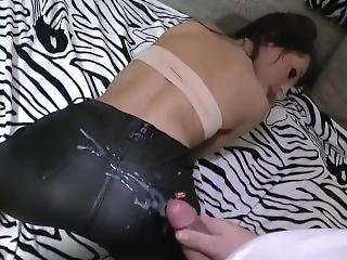 Cum On Miss Sixty Leather!