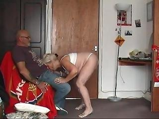 64 Year Old Granny Strips For Hubby And Drinks Cum