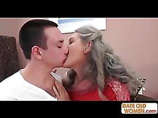 Grey Hair Grandmother Takes It Deep