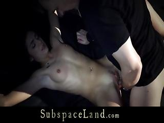 Girl Tied And Whipped In Semi Obscure Sub Space