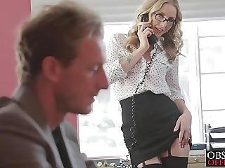 Ryan Ate Her Pussy Then Bent Her Over The Desk To Fuck Her