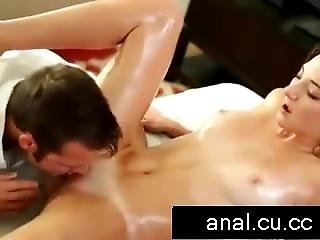 Brunette Amy Fair Oral And Finger Fucking On Massage Table
