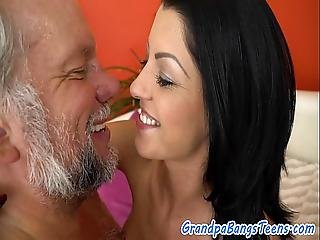 Babe Teen Fucked In Missionary By Grandpa