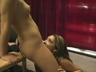 Two Hot Lesbians Fuck With Strap On