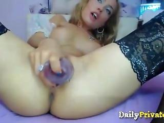 анальный, блондинка, бледный, сексуальный, игрушки