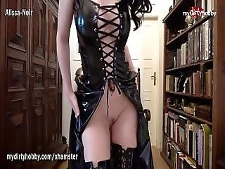 My Dirty Hobby - Goth Babe With Green Eyes Masturbates