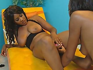 Amazing Black Nymphs Lick And Prod