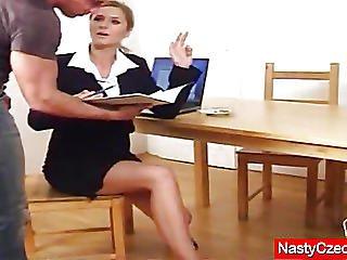 Closeup, Dildo, Fingering, Fucking, Lick, Masturbation, Pornstar, Pussy, Pussy Fucking, Pussy Lick, Secretary, Smoking, Stocking
