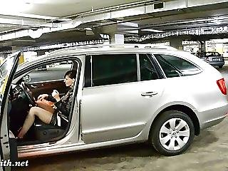 Jeny Smit At Car Parking