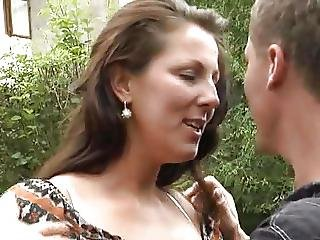 German Mom Outdoor Strong Sex
