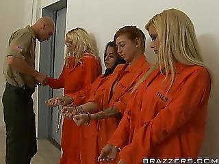 Breasty Golden-haired Inmate Shyla Stylez Does Gazoo To Throat And Swallows Cum