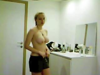 Teen gf finds the hidden cam HUGE BOOBS