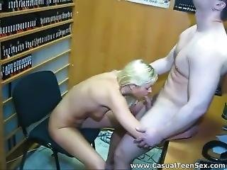 Fucking And Creampie In Video Store