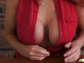 Redhead Milf Teacher With Massive Tits Encourages You To Wank!
