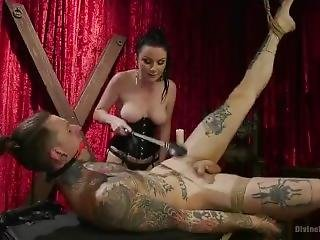 Device Bitches Mistress Bella Rossi Punished Her Slave