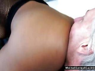 White Slave Choking On Black Ass