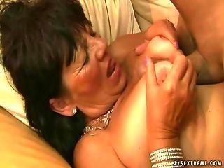 Fat Grandma Enjoying Hot Sex