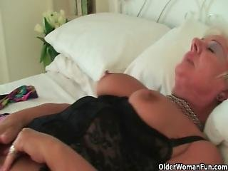 British, Clit, Grandma, Granny, Mature, Milf, Mother, Pierced, Stocking