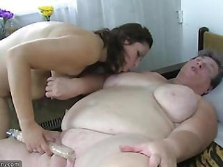 Bbw, Chubby, Chubby Mom, Dildo, Dirty, Fat, Granny, Hairy, Masturbation, Mature, Mom, Old, Pussy, Threesome, Young
