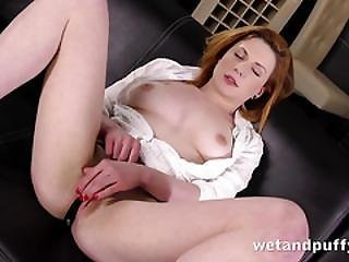 Babe, Closeup, Dildo, European, Fingering, Masturbation, Orgasm, Pussy, Redhead, Seductive, Sexy, Solo, Toys, Wet