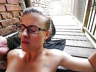 Akimoto blows tasty dick in pov outdoor 2