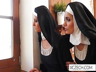 Crazy Catholic Nuns Licking Pussies