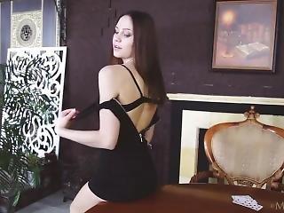 Cute Barbara Vie Plays Game Of Chance