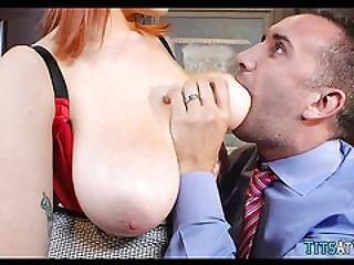 fantastisk, babe, bryst, snyder, hæle, milf, naturlig, naturlige bryster, kontor, rødhåret, arbejdsplads