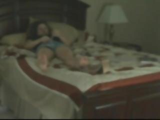 Hidden Cam Catches Wife Masturbating To Orgasm