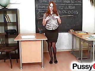 Babe, Czech, Glasses, Open Pussy, Pussy, Pussy Stretching, Redhead, Spreading