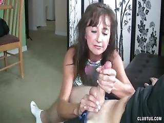 Granny, Handjob, Jerking, Mature, Naughty