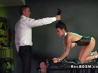 Chained Big Boobs Sub Gets Fucked