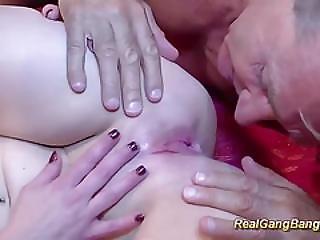 Gangbang Orgy With Cute Teen
