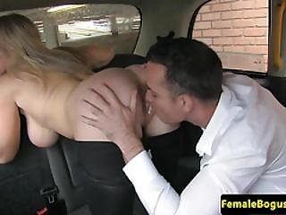 Fine Cabbie Babe Pussy Pleasured In Backseat
