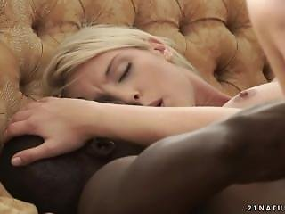 Kimber Delice - French Blonde Interracial Anal