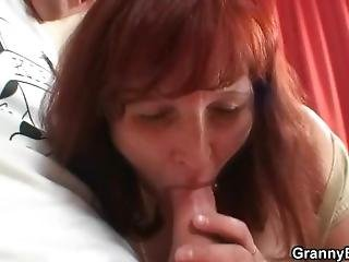 Redhead Granny Getting Lured Into Sex