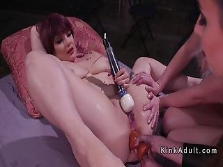Lesbian Blonde Anal Toyed And Fisted