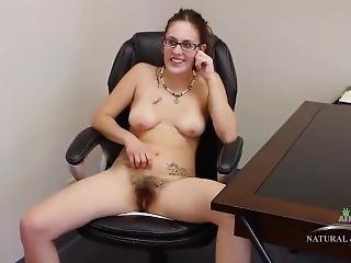 brünette, fetisch, büro, solo