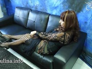Mature Mistress Herrin Carmen Fishnet Pantyhose Legs And Spike Heels