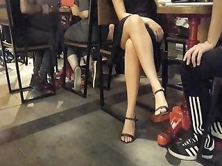 Crossed Sexy Legs, Sexy Feets In Heels