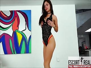 Sexy Latina Strip Dancing And Twerking - Striptease