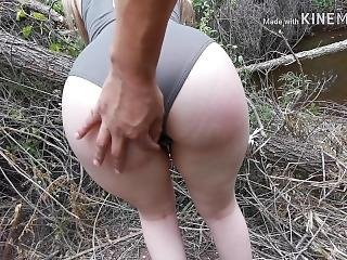 Shy Girl Deepthroat Is Fucked In Forest During Her Period
