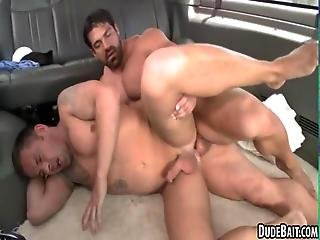 For The First Time This Sexy Hunk Gets Anal Sex