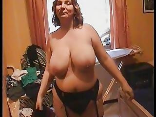 肛門の, Bbw, 大きなブーブ, 巨乳, 黒い, 黒ストッキング, おっぱい, マスターベーション, ママ, ストッキング