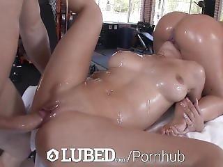 Lubed - Sluts Jada Stevens And Crystal Rae Nasty Oiled Fuck