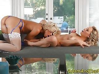 Stockinged Lesbian Licks